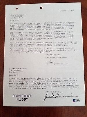 Comic Strip Creator GEORGE McMANUS -SIGNED CONTRACT- for BRINGING UP FATHER