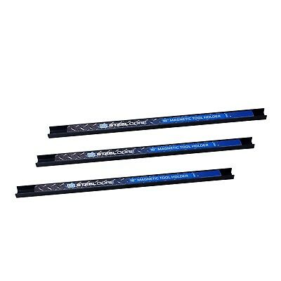 Steel Core 3 piece 18 in Magnetic Tool Holder Bar Organizer 22 lbs Capacity each