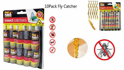 10 Pack Sticky Fly Bug Wasp Paper Catcher Trap Indoor Greenhouse