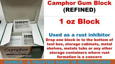 Humco Camphor Gum Block (REFINED) 1 oz per Block Exp. 08/2022 USA Fast Shipping