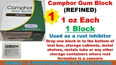 1 Humco Camphor Gum Block (REFINED) 1 oz Block Exp 08/2022 Same Day Shipping USA