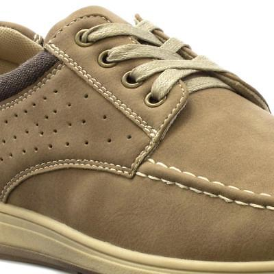 Mens New Casual Brown Formal Lace Up Shoes SIZE 7 8 9 10 11 12
