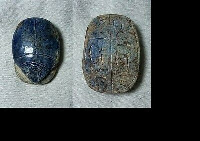 Ancient Egypt Faience Scarab New Kingdom 1400-1200 Bc