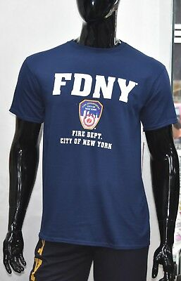FDNY Shirt T-Shirt Officially Licensed Brand New with Tags Navy Blue