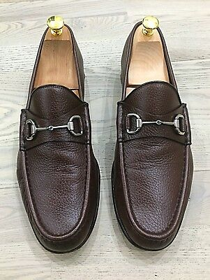 74ce2baef7ac6 GENUINE GUCCI BROWN Mens Leather Horsebit Loafer Shoe UK11 EU45 US12 ...