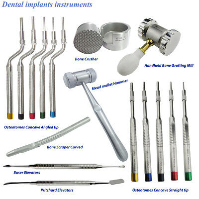 Sinus Lift Osteotomes Offset Concave Angled & Straight Tip Surgical Implants kit