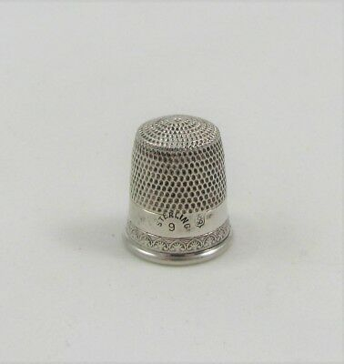 Simons Brothers Size 9 Sterling Silver Thimble
