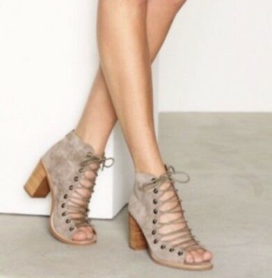 e5b39402d $165 Jeffrey Campbell Cors Peep Toe Bootie Suede Size 7.5 US Free People