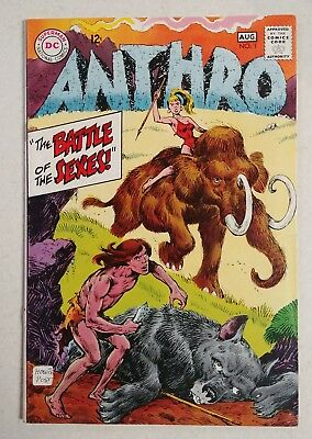 Anthro #1 (Jul-Aug 1968, DC) Howie Post-art, Silver Age Comic.
