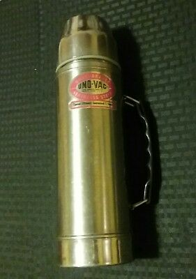 Vintage Uno-Vac Unbreakable Stainless Steel Hot/Cold Thermos by Union Mfg Co