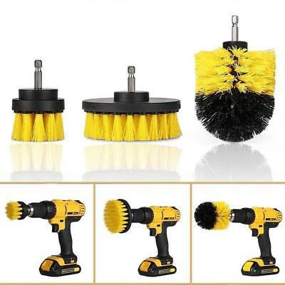 3pcs/kit Electric Drill Cleaning Brushes for Bathroom Surfaces Tub Shower Tile