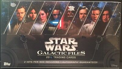 2018 Topps Star Wars Galactic Files Hobby Sealed Box- In Stock!
