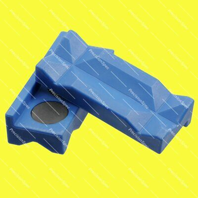 Magnetic Plastic Vise Jaw Insert Pad For AN Hose End Fitting Adapter - Blue
