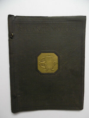 1930 Reliance Electric Motor Catalog Binder Squirrel Cage Cleveland OH Vintage