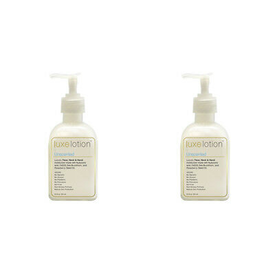 2X Luxebeauty Luxe Lotion Luxury Face Body & Hand Moisturizer Unscented Healthy