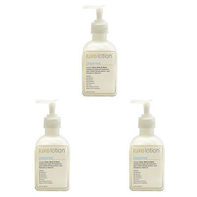 3X Luxebeauty Luxe Lotion Luxury Face Body & Hand Moisturizer Unscented Healthy