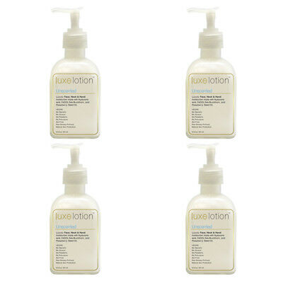 4X Luxebeauty Luxe Lotion Luxury Face Body & Hand Moisturizer Unscented Healthy