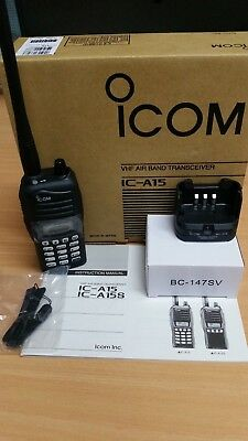 Icom IC-A15 Airband Radio with Icom HM-234 Speaker microphone