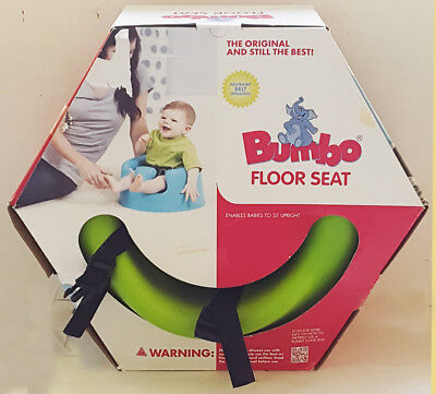 NIOB BUMBO low density foam LIME green FLOOR SEAT with straps & 3 point HARNESS