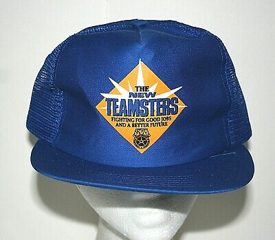 Rare 1970s The New Teamsters Union Good Jobs Mesh Baseball Cap Hat New NOS OSFM