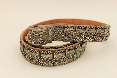 Antique Original Perfect Silver Niello Amazing Russian Caucasian Amazing Belt