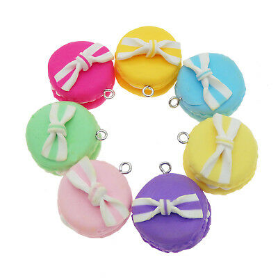 10 Pieces Polymer Clay Macaroon Charms For Diy Bracelet Necklace Earring Jewelry