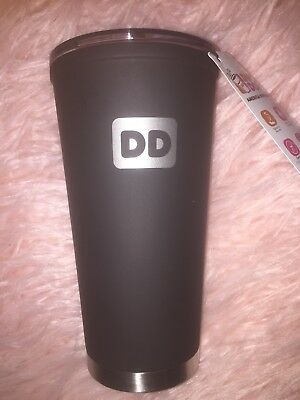 4a1cd867581 DUNKIN DONUTS 20 oz black stainless steel tumbler - $19.99 | PicClick