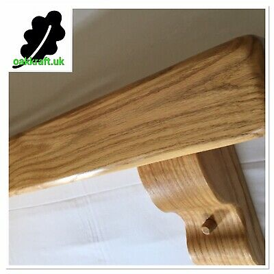 """Solid Oak Beam With Large Corbels, 59 """"x 6""""x 4 Rustic Mantle, Shelf, Mantelpiece"""