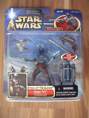 Star Wars AOTC: Jango Fett with Electronic Back Pack (blue US Card)