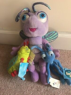 "Disney Pixar A Bugs Life Toy Princess Dot Plush Toy Talking 15"" Flik & Heimlich"