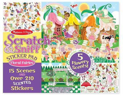 Melissa & Doug SCRATCH & SNIFF STICKER PAD - FLORAL FAIRIES Creative Toys - NEW