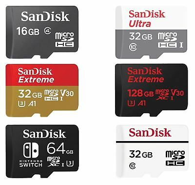 16/32/64/128/200/256/400 GB SanDisk Ultra Extreme Pro Micro SD SDHC SDXC Card