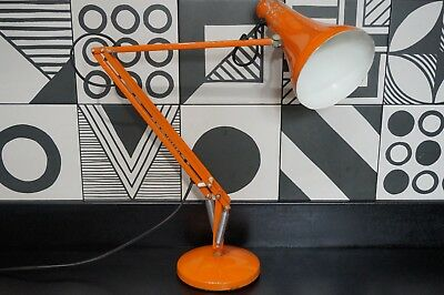 Vintage Orange Anglepoise 90 folding lamp for spares or repair