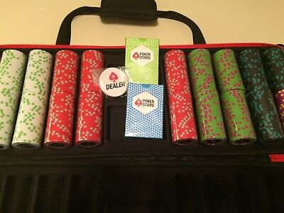 Pokerstar Casino Professional 500 piece Clay Chip Set & Carrying Case.