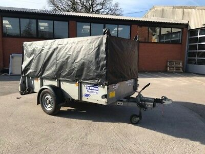 Used Ifor Williams GD84 Single Axle- Mesh Sides- tarpaulin cover - 2014