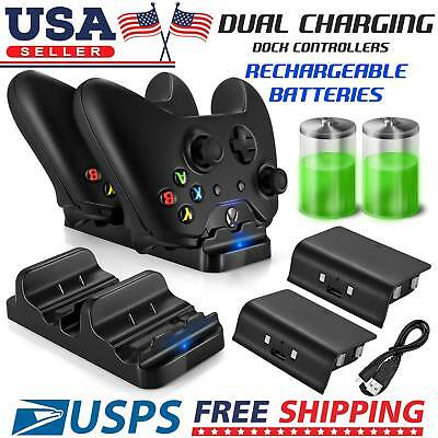 XBOX ONE Dual Charging Dock Station Controller Charger And 2 Extra Battery Packs