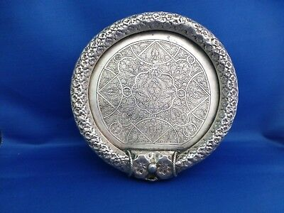Antique Solid Silver Egyptian Alexandria Tray