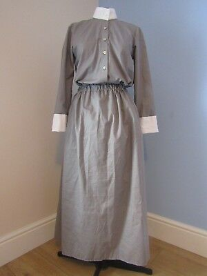 WWI/WWII Military Style NURSE SKIRT & BLOUSE  Approx Size UK 12
