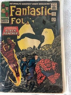 Fantastic Four #52 (1966, Marvel Comics) First Appearance of the Black Panther