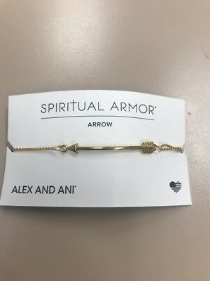14kt GP Bracelet Authentic Alex and Ani Heart Pull Chain