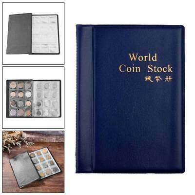 10 Pages 120 Coins Collection Holder Pockets Tokens Coins Storage Album Book