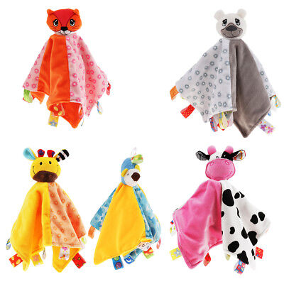 Baby Kids Boys Girls Colorful Security Blanket Cloth Comforter