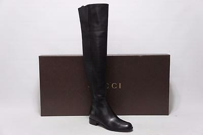 80431da7271 Gucci Maud Over The Knee Leather Tall Flat Boot Shoes 37.5/7.5 $ 1695