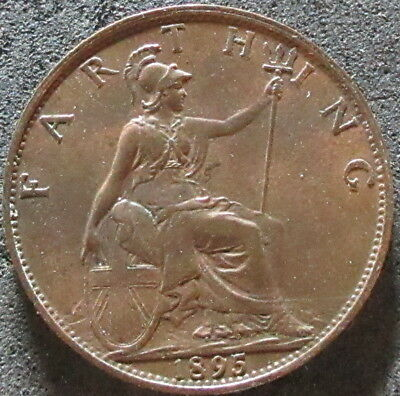 1895 Great Britain Farthing Coin