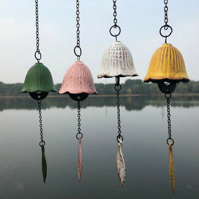 Hanging Cast Iron Bells Wind Chimes Antique Temple Decorative Ornaments