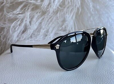 1c647f3857a VERSACE MOD 4341 GB1 81 Polarized Aviator Sunglasses w Iconic Medusa Accents