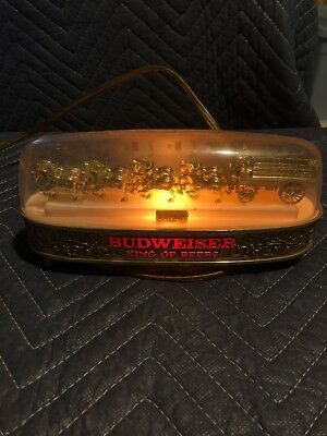 Budweiser Gold Clydesdale Bar/Mancave Light- Works Great- Rare