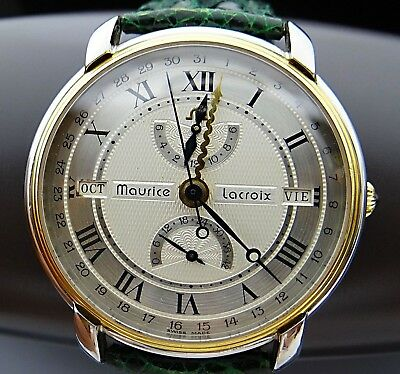MAURICE LACROIX 51411 MASTERPIECE Automatic Day Date Power Reseve Herren Uhr