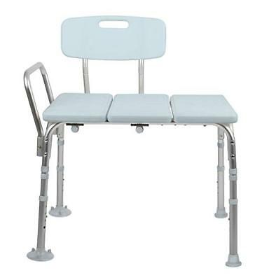 MEDLINE TRANSFER BENCH with Back, Knockdown, Microban, New, Free ...
