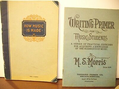 Vintage Drum lesson books and instruments booklets.1897-1927